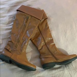 Brown Knee High JustFab boots